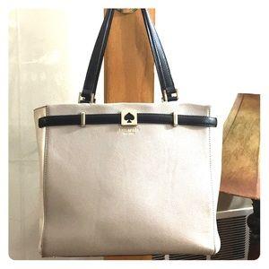 ♠️ Kate Spade grey white black leather satchel ♠️